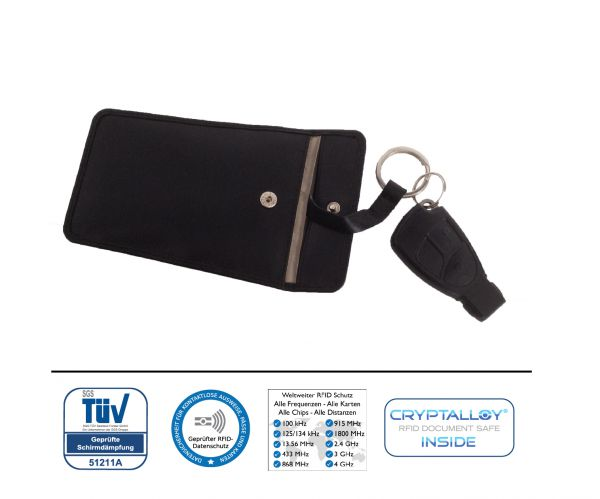 Funk (RFID / NFC) / Keyless Autoschlüsseletui SILVERSTONE aus hochwertigem Leder
