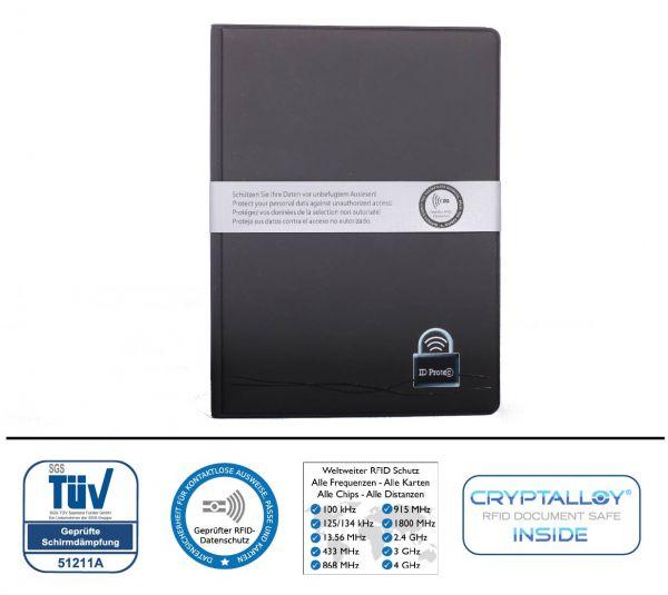 RFID/NFC Reisepassschutzhülle ID Protect inklusive 2 Kartenfächer Kunststoff (kontaktlose Pässe, EU